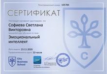 Сертификат Эмоциональный интеллект