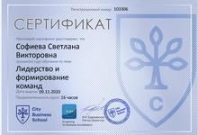 Сертификат Лидерство и формирование команд