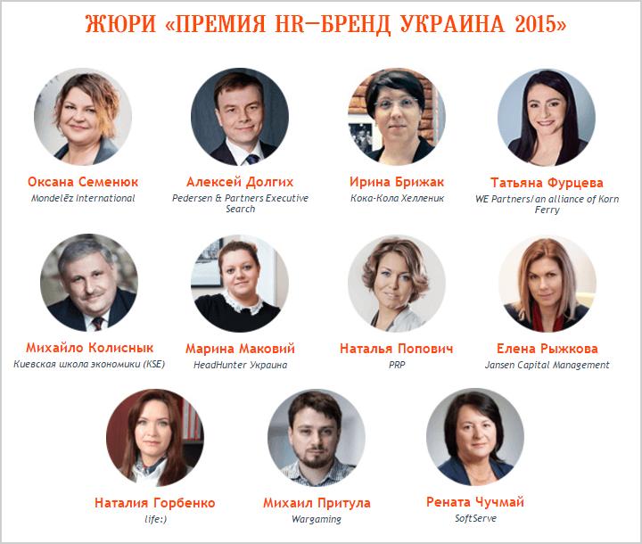 Представляем вам состав жюри «Премии HR-бренд Украина 2015»