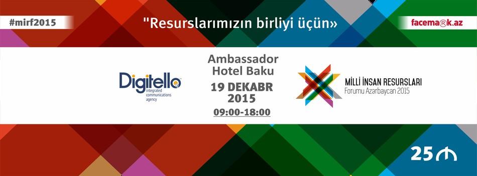 Azərbaycandabir ilk İlk Milli İnsan Resursları Forumu Azərbaycan 2015