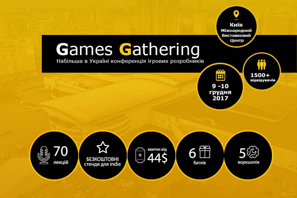 Конференція Games Gathering подвоює потужність