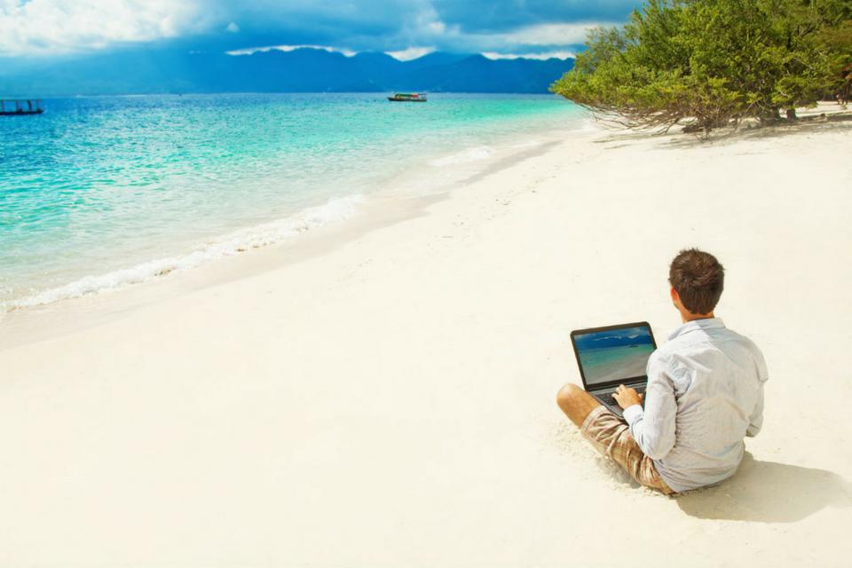 В отпуске или на удаленной работе