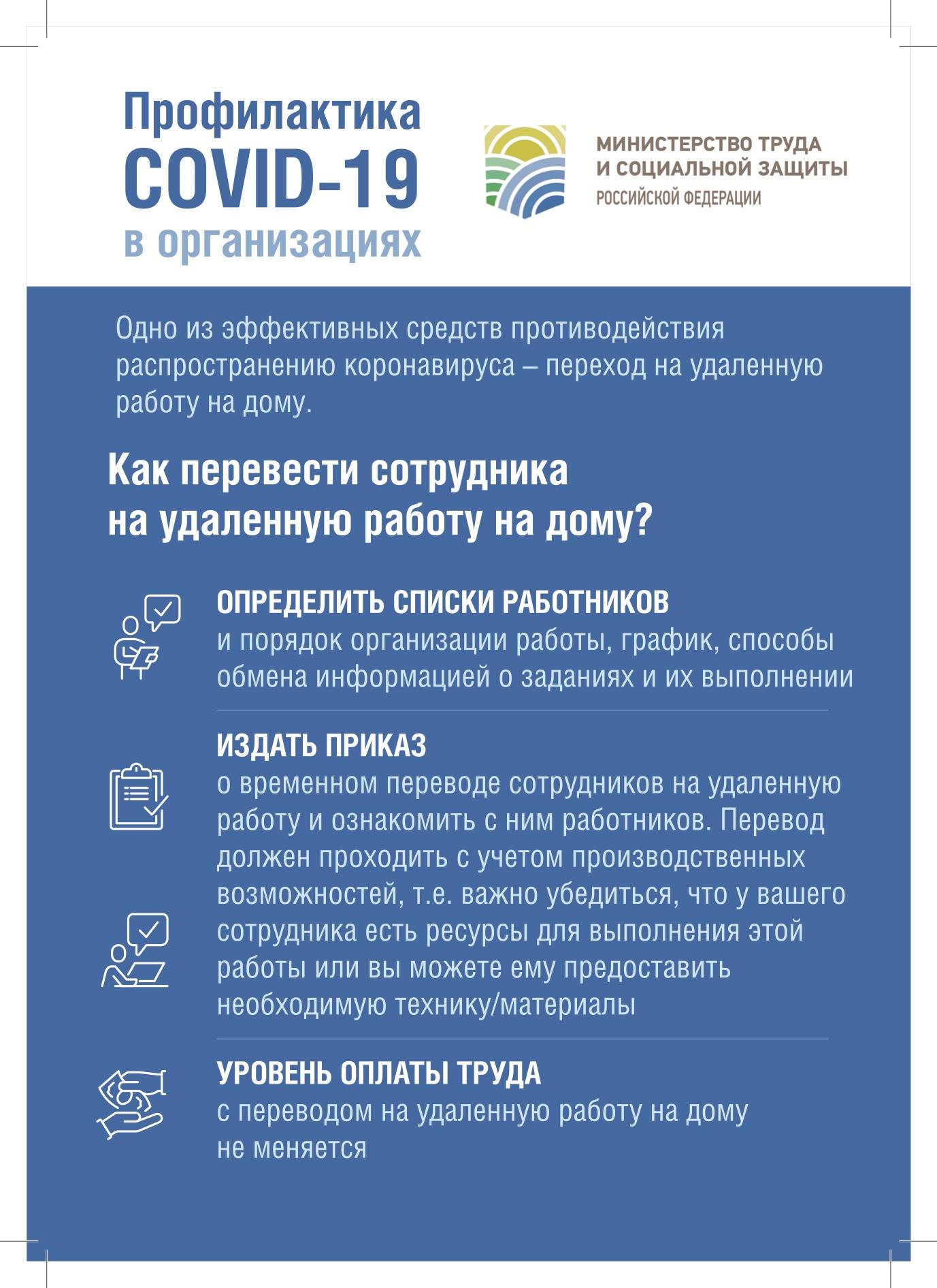 Профилактика COVID-19 в компаниях