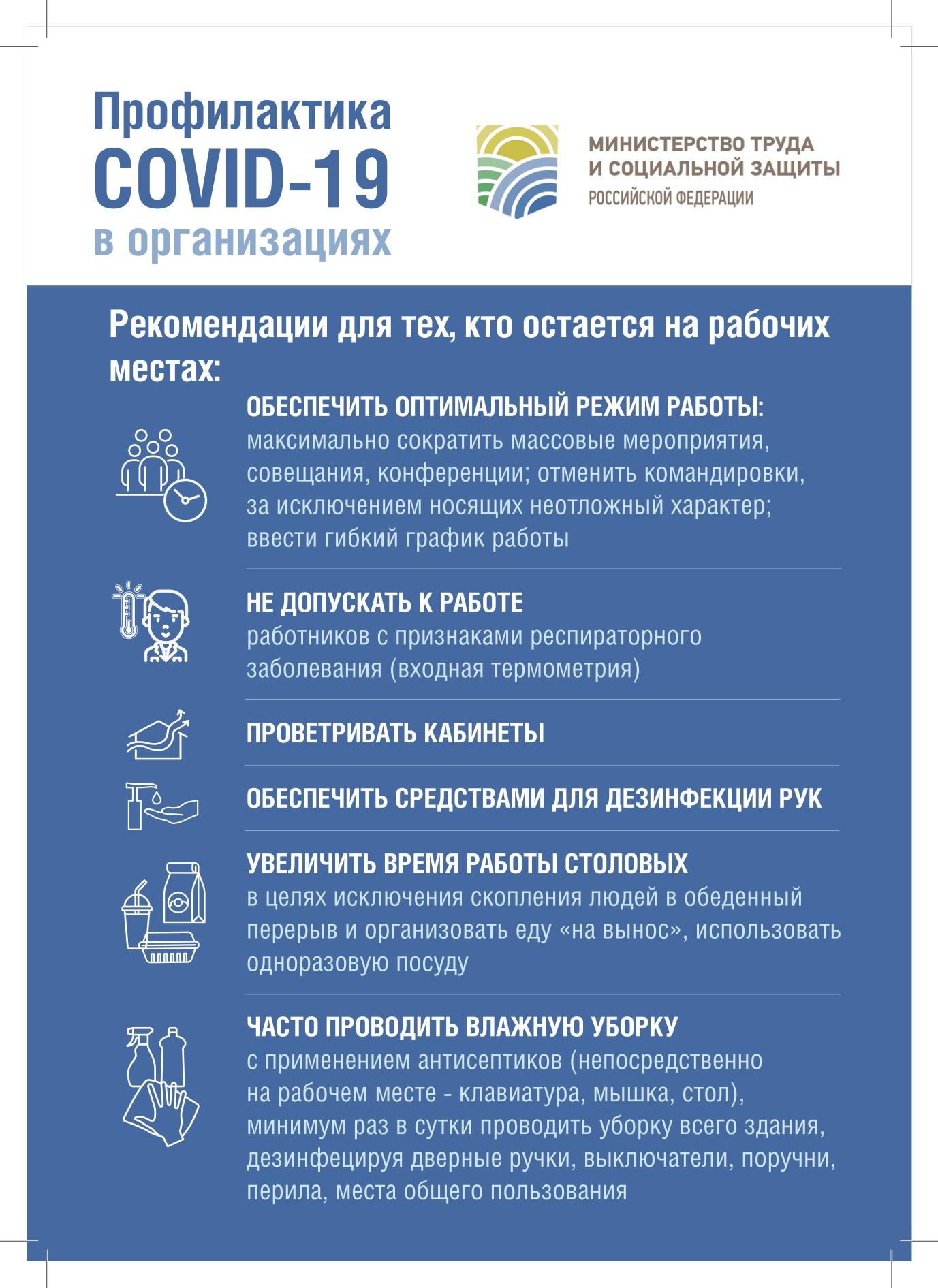 Профилактика COVID-19 в компаниях и другие полезные ссылки